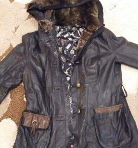 Куртка кожаная демисизонная