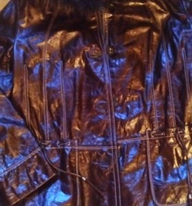 Куртка новая  нат кожа лаковая