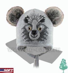Новый зимний комплект шапка на изософте и шарф 48
