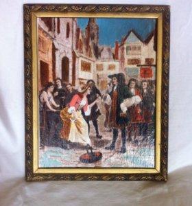 Картина в старинной раме
