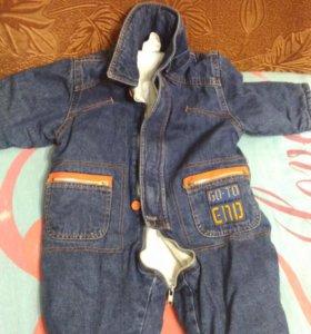 Детский комбезик джинсовый