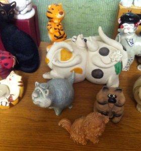 Фигурки котов коллекция