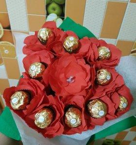Букеты из конфет.