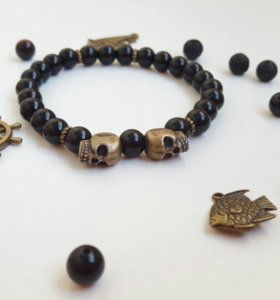 Мужской браслет из натуральных камней