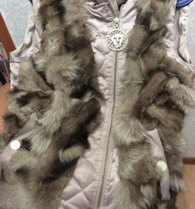 Куртка-жилет с натуральным мехом