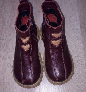 Натуральные ботиночки на девочку