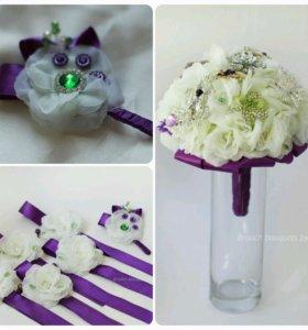 Букет невесты ручной работы