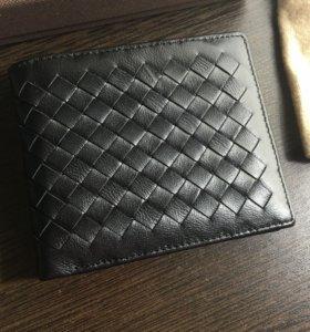Бумажник черный Bottega Veneta 11.5 х 9.5 см