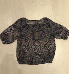 Блуза полупрозрачная