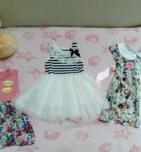 Три симпатичных наряда для девочки. Оптом за 1000