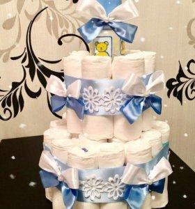 В НАЛИЧИИ Тортики из памперсов