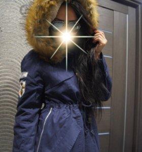 Зимняя парка ( куртка джинсовая )
