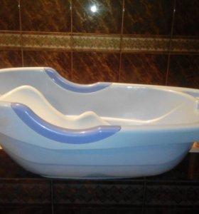 Детская ванна + горка для купания