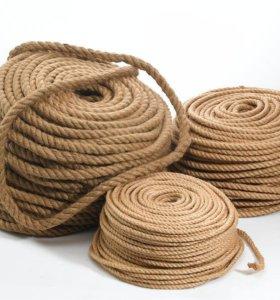 Веревка (канат) джутовый для перетяжки когтеточек