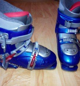 Продам горнолыжные ботинки с лыжами