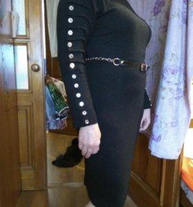 Платье чёрное р. 48