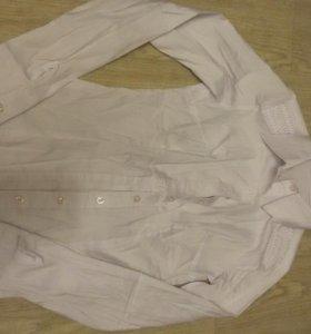 Новая белая рубашка xs., хб-ка