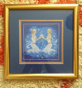 Картина близнецы вышивка крестом
