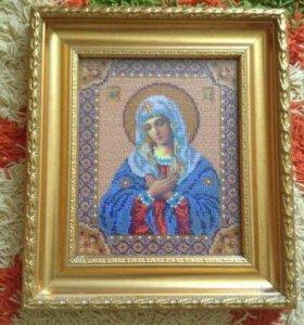Картина иконы вышивка бисер