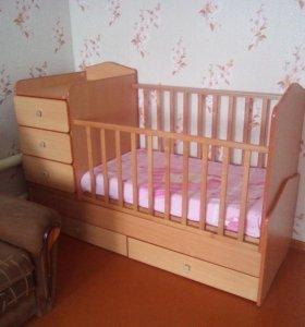 Детская кроватка- трансформер от 0 до 10 лет.