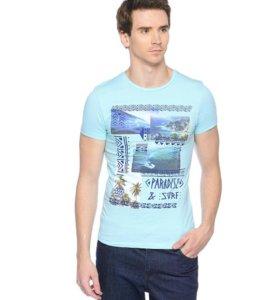 Новая мужская футболка Oodji