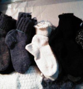 Вязанные пуховые носки