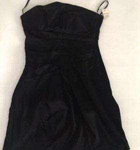 Платье бюстье чёрное xs s