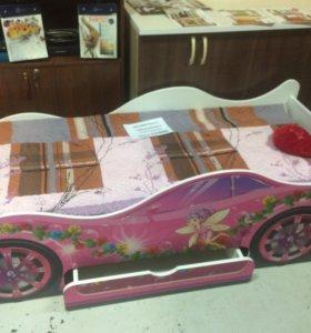 Детская кровать-машинка(новая)