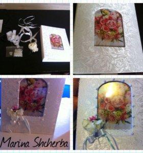 Альбомы свадебные ручная работа на заказ