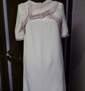 Платье бледно-розового цвета р42-44