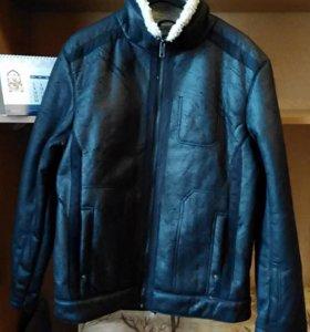 Зимняя куртка дубленка для подростка р.48-50