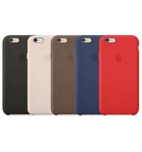 """Чехол """"Apple leather case"""" (копия) iPhone 6/6s"""