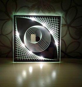 Зеркальная светодиодная люстра
