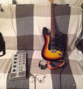 Гитара и процессор корг