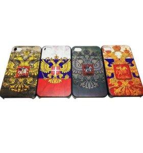 "Чехол ""Патриотический"" iPhone 4/4s (поликарбонат)"