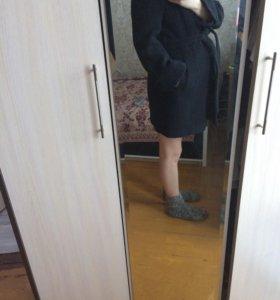 Тёплое осеннее шерстяное пальто