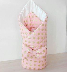 Конверт на выписку. Одеяло для малыша.
