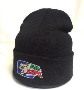 Тёплая брендовая шапка Ак Барс