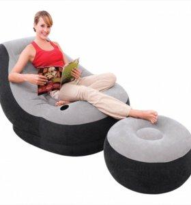 Кресло с пуфиком фирма Intex.
