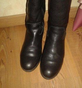 Новые Сапоги кожаные женские зимние 41