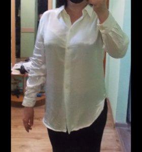 Блузка айвори. Офисная рубашка