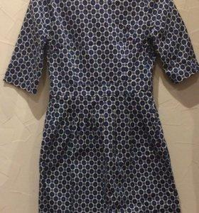 Платье чёрно-синее