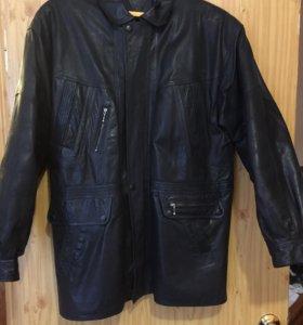 Куртка кожаная новая демисезонная утепленная