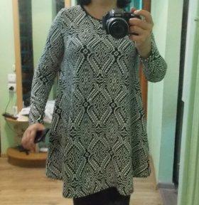 Теплая весенняя туника-платье