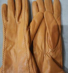 Перчатки кожа натуральные
