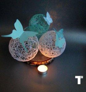 Декоративные шары с бабочками