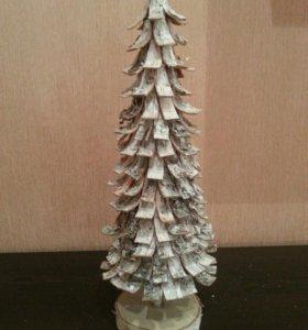 Новогодня елка из бересты