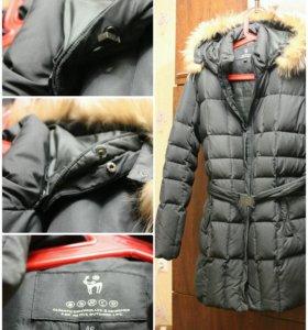 Теплый зимний пуховик куртка