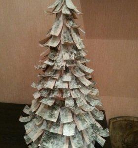 Новогодняя елка из бересты