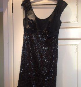 Платье чёрное с блёстками CHETTA B